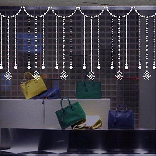 Bomeautify adesivi e murali da parete murale bead tenda finestra pittura bagno bagno decalcomania di vetro balcone finestra porta adesivi anti-collisione linea decorazioni, 35 * 50 cm