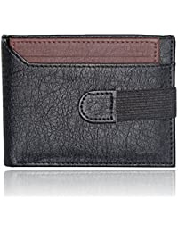 AL FASCINO Black And Brown PU Leather Wallet/Purse For Men