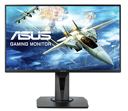 Asus VG255H Monitor Gaming 24.5'' FHD (1920 x 1080), 1 ms, fino a 75 Hz, HDMI, D-Sub, Super Narrow Bezel, FreeSync, Low Blue Light, Flicker Free