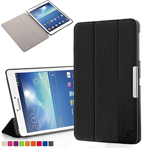 Forefront Cases Samsung Galaxy Tab 3 8.0 Funda Carcasa Stand Smart Case Cover – Protección Completa y Ultra Delgado Ligera del Dispositivo con Función Auto Sueño/Estela (Negro)