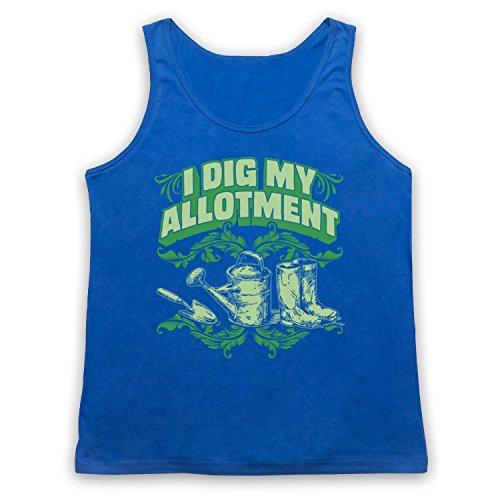 I Dig My Allotment Gardening Slogan Tank-Top Weste Blau