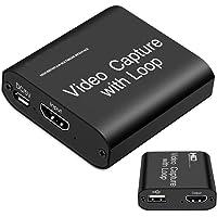 MOSOY Video HDMI Capture Karte mit Loop Out, 4K HD 1080P 60FPS USB 2.0 Capture Karte für Live-Streaming, Broadcasting…