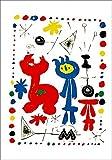 Artland Poster Kunstdruck aufgezogen auf Holz-Platte Wand-Bild Joan Miró Personen und Vögel Abstrakte Motive Gegenstandslos Graphische Kunst Bunt 99 x 69 x 1,2 cm D1SQ