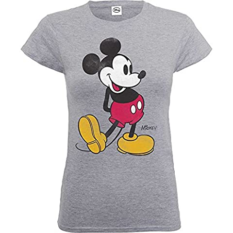 GENUINE - Ladies OFFICIAL Mickey Mouse Classic Kick T-shirt