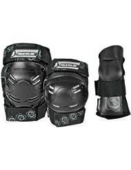 Powerslide - Kit de seguridad para adulto, 6 piezas, color negro negro negro Talla:large