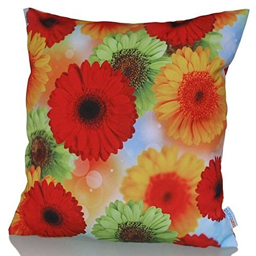 Sunburst Outdoor Living 60cm x 60cm BRAVO Federa decorativa per cuscini per divano, letto, sofà (Rust Brown Set Esterno)