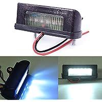 Rungao Lámpara LED 12V para matrícula o luz trasera para camión o remolque Blanca