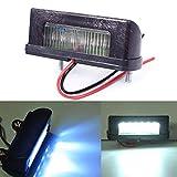 Zhuotop - Luce a LED per targa, 12V, per camion o rimorchio, colore: bianco