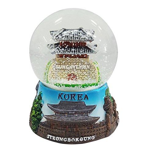 Crystal Design Namdaemun das Südtor von Seoul Korea Schneekugel Große Mehrfarbig -