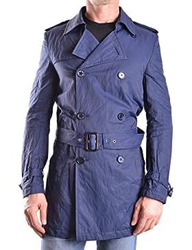 Daniele Alessandrini Hombre MCBI086472O Azul Algodon Trench Coat