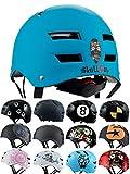 Skullcap® BMX Helm - Skaterhelm - Fahrradhelm - Herren | Damen | Jungs & Kinderhelm Gr. L (58 – 61 cm), Blue Ocean