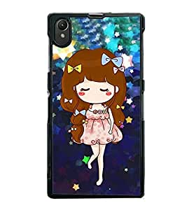 Fuson Premium 2D Back Case Cover Cute baby With black Background Degined For Sony Xperia Z1::Sony Xperia Z1 L39h