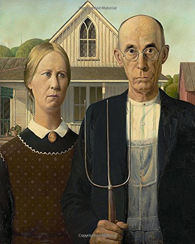 Bullet Journal: American Gothic by Grant Wood: 140 Page 8x10 Dot Grid Journal Notebook Diary