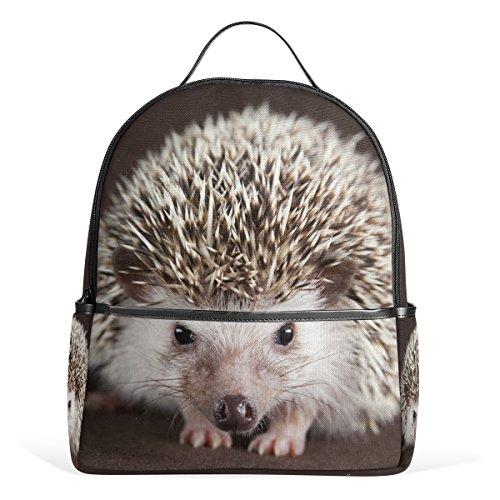 ALAZA Netter Igel-Rucksack für Schule Bookbag