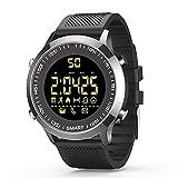 Smartwatch Bluetooth Armbanduhr Fitness Tracker EX18 Smart Watch mit Schrittzähler Stoppuhr für Damen Herren Kompatible Android iOS Telefone (Schwarz )