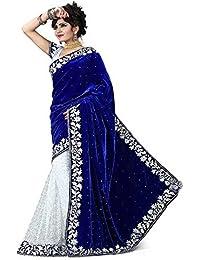 Radhe Krishna Creation Georgette Saree (Blue Georgette_Blue)