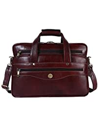 169a7449b52 Hammonds Flycatcher Original Bombay Brown Leather 15.6 inch Laptop  Messenger Bag (L 16