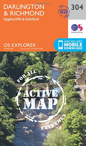 Price comparison product image OS Explorer Map Active (304) Darlington and Richmond (OS Explorer Active Map)