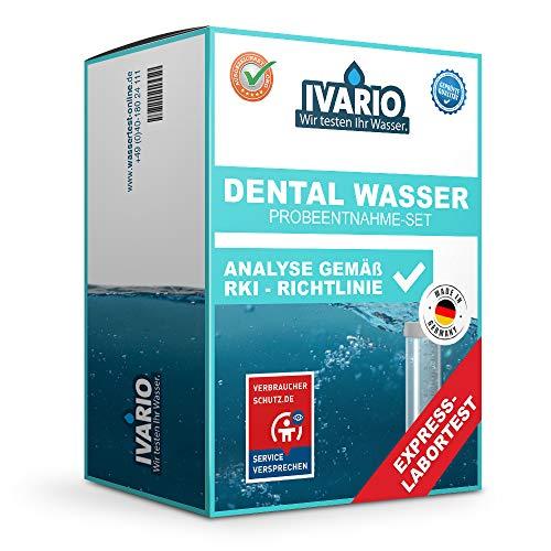 Labor-Wasseranalyse für Dentaleinheiten - Zahnarztpraxis (RKI/KRINKO)/Express-Analyse im Fachlabor/24h-Versand/kostenlose Expertenberatung/Eigenständige Probenahme