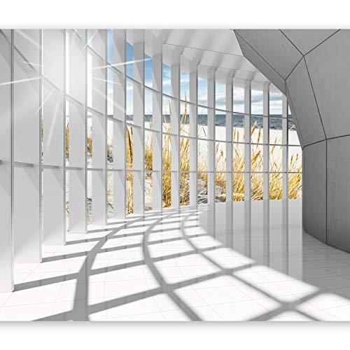 murando - Fototapete 3d Effekt 350x256 cm - Vlies Tapete - Moderne Wanddeko - Design Tapete - Wandtapete - Wand Dekoration - Architektur Landschaft Meer c-C-0020-a-a