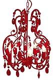 Naeve Leuchten Klassik - Krone/ø 42 cm Höhe: 50 cm, rot 826921