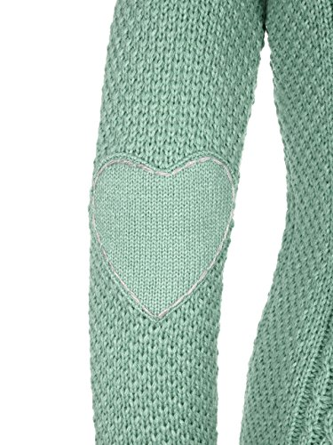Almbock Strickjacke Reißverschluss Damen | Hochwertige Trachten Strickjacke | Trachtenjacke Damen aus Feiner Wolle in Vielen Farben von Gr. S - XXL (Mintgrün, S) - 4