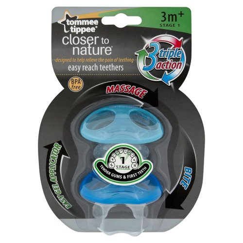 Tommee Tippee Closer to Nature Stage 1Easy Reach Mordedor 3meses + (Boy)