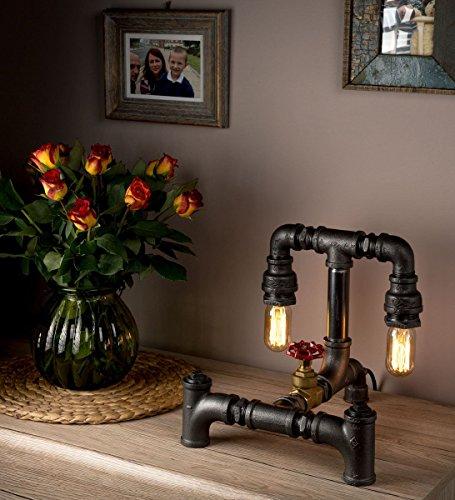 Lámparas Pequeñas de Mesa Guai y de moda para una Mejor iluminación de Caño para Escritorio y Sala de Estar Lámparas con Luz Cálida - LUXMA