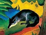 1art1 77606 Franz Marc - Der Blaue Fuchs, 1911 Poster Kunstdruck 80 x 60 cm