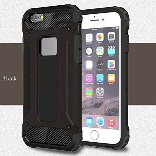 """iPhone 6S Plus Coque, AOFad iPhone 6 Plus Case Mince Protection des lourds 2-à-1 Argent TPU Avec 11 Colors Urban-Knight Accessoires Série Pour Femme Homme 5.5"""" I636 AOFad B316"""