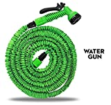 #10: House of Quirk Expandable upto 25 Feet Garden Hose & Spray Nozzle Combo Best Water Hose Collapsible, Lightweight, Rubber, Coiled Great for gardening, pools, workshops, boats, washing cars & the house!