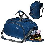 Coreal Unisex Reise Rucksack Gym Sporttasche mit Schuhfach Blau