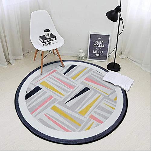 Teppich rund nordisch geometrisch geometrisch kreisförmig kreisförmig kreisförmig kreisförmig für Wohnzimmer Schlafzimmer Teppich und Teppich Computer Stuhl Fläche Teppich Du Rable Canon 200 cm -