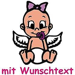 Bunter Babyaufkleber Mit Wunschtext - Motiv B712