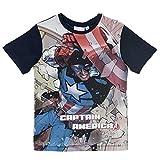 Supereroi Marvel Avengers Marvel Avengers - T-Shirt Maglia Maglietta a Maniche Corte Full Print - Bambino - Novità Prodotto Originale 0621RE [Blu - 4 Anni - 104 cm]