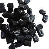 OULII Tapas para Válvulas de Neumáticos Casquillos de válvula para Bicicletas Coches Negro 100 Piezas