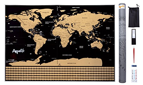 Mapa Mundi Rascar – Scratch World Map – Póster