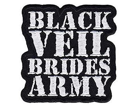 Noir Veil Brides Army logo Andy BVB nouveau officiel Cut Out Patch