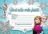 10 Inviti compleanno invito festa Il Regno Di Ghiaccio Frozen in Italian
