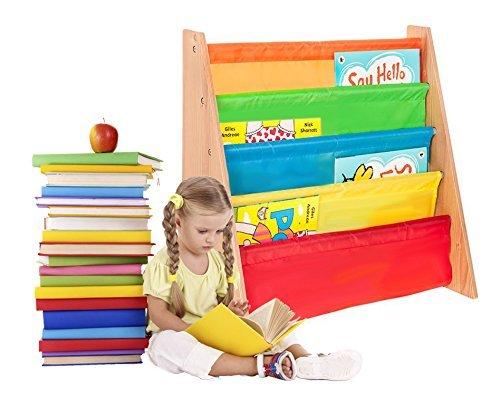 FiNeWaY Marke neue hohe Qualität Kinder 'S BOOK Aufbewahrung Sling Einlegeböden für 3+ Jahre mehrfarbig Bücherregal Book