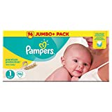 Pampers Premium Protection Couches, Taille 1 (2-5 kg) - Jumbo+ Pack (96 Couches)
