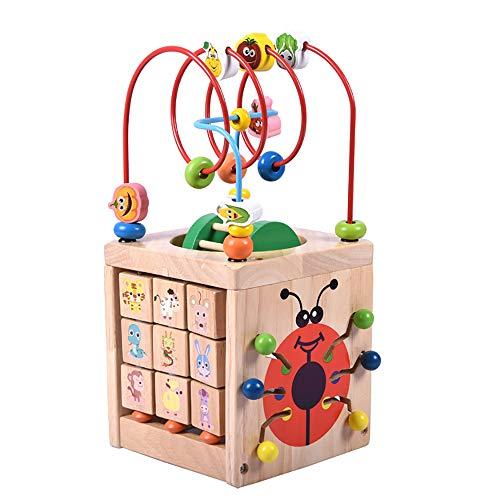7-in-1 Mehrzweckspielzentrum Form Farbsortierer Perlen Labyrinth Spielzeug Top Bright Four Sides Beetle Frühe Lernspielzeug für Kinder Babys ()