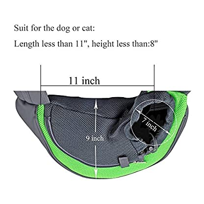 aokur Pet Sling Dog Cat Kitty Carry Carrier Outdoor Travel Oxford Single Shoulder Bag for Yorkie, Chihuahua etc 2