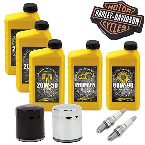 Kit tagliando GARANZIA harley davidson ROAD GLIDE KING TRIKE CUSTOM CLASSIC Olio Motore Cambio Primaria 2 Candele Filtro