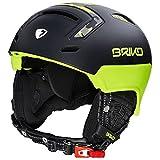 Briko Stromboli Helm Ski, Unisex Erwachsene XL Matt Neongelb Camouflage Schwarz