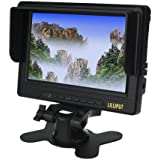 """LILLIPUT 668GL-70NP/H/Y 7"""" on-camera Field HD Monitor for DSLR + Shoe Mount + MINI HDMI Cable + Battery Charger Adapter by Koolertron"""