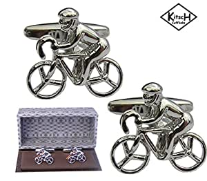 Bicycle Cufflinks - presented in a magnetic Cufflink Gift Box