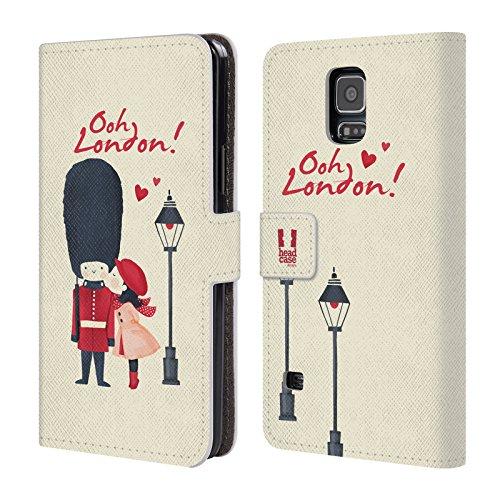 Head Case Designs Ein Gardeoffizier Der Königin Zu Küssen Das Beste Von London Leder Brieftaschen Huelle kompatibel mit Samsung Galaxy S5 / S5 Neo (London Galaxy Case Samsung S5)