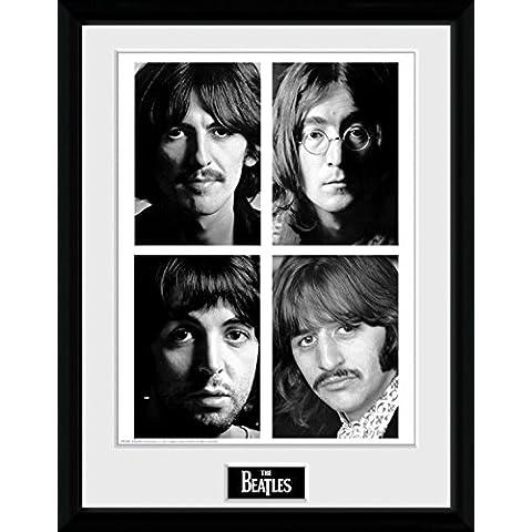 The Beatles - White Album Poster Da Collezione Incorniciato (40 x 30cm)