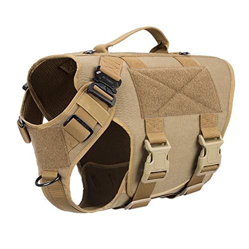 Jagd Weste Militärische Taktische Operationelle Hundegeschirr Ganzkörper-Abdeckung Strafverfolgung Working Cannie Protective Hunting Vest jacke ( Color : Coyote brown , Size : M chest 25 to 31in )